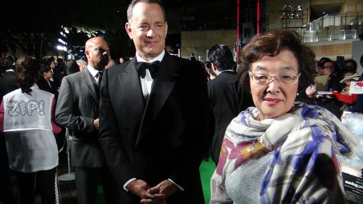 Mr. トム=ハンクス(左)と 戸田奈津子さん(右) photo by OIKAWA Henri-Kenji