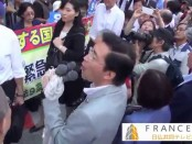 首相官邸前にて山下芳生・参院議員、有田芳生・参院議員が集団的自衛権・反対を訴え