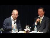 小沢一郎・代表が堀茂樹・慶大教授とトークライヴ@表参道