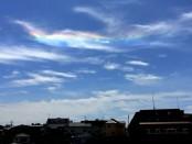 七色の雲。瑞相とされる「彩雲」、夏の横浜に現る。【2014.08.02】
