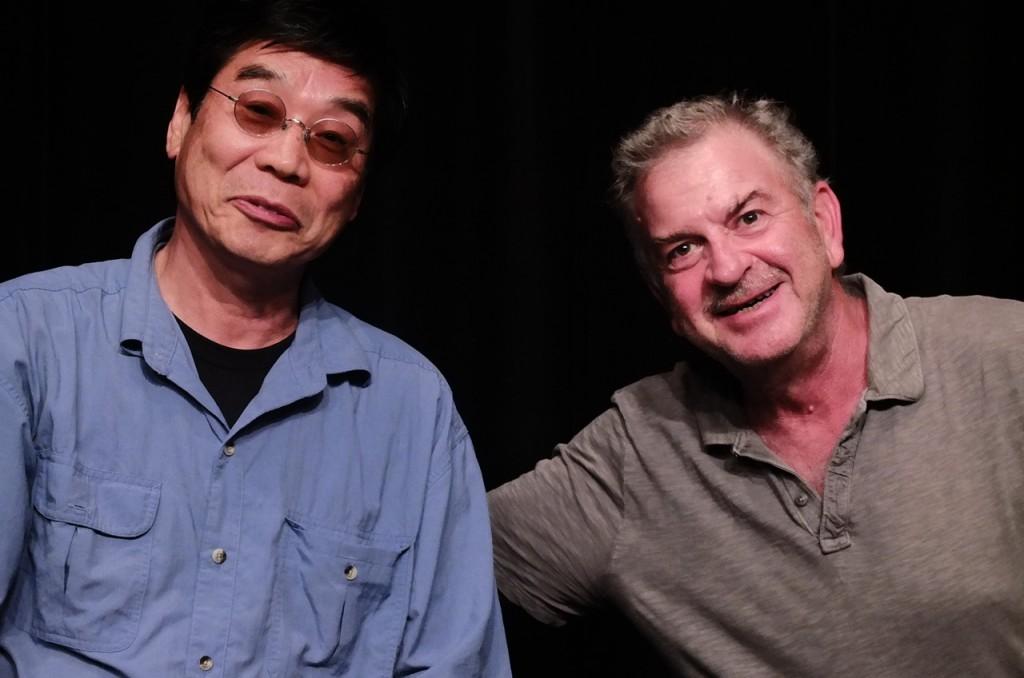 原一男・監督(左)とモグラビ監督(右)