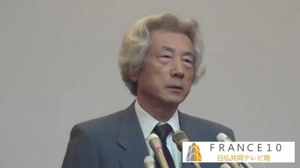 原発ゼロを訴える小泉純一郎・元首相。城南信用近郊 撮影:及川健二
