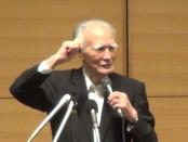 佐高信さんと村山富市・元首相が鼎談 「村山談話と戦後70年」が開催
