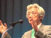 小泉元首相、涙の理由語る 被ばく訴えた元兵士思う